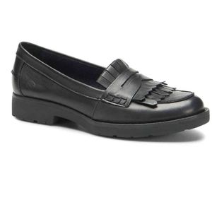 Born Lorens black leather penny loafer